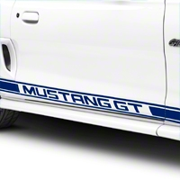 Blue Rocker Stripes w/ Mustang GT Lettering (94-04 All) - American Muscle Graphics 26246