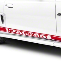 Red Rocker Stripes w/ Mustang GT Lettering (94-04 All) - American Muscle Graphics 26247