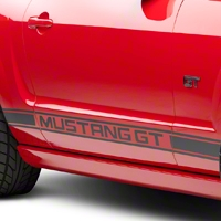 Matte Black Rocker Stripes w/ Mustang GT Lettering (05-14 All)