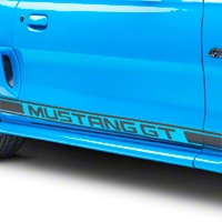 Matte Black Rocker Stripes w/ Mustang GT Lettering (94-04 All)