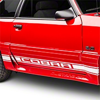 White Rocker Stripes w/ Cobra Lettering (79-93 All)