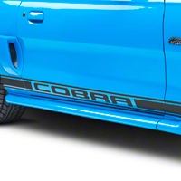 Matte Black Rocker Stripes w/ Cobra Lettering (94-04 All)
