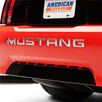 Chrome Vinyl Bumper Insert Letters (99-04 GT, V6, Mach 1; 99 Cobra) - American Muscle Graphics 26298