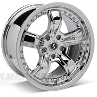 Chrome Shelby Razor Wheel - 17x9 (94-04 All)