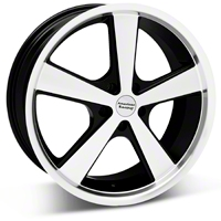 Black Machined American Racing Nova Wheel 18x9 (05-14 GT, V6) - American Racing VN70189012335||27209