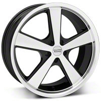 American Racing Nova Black Machined Wheel - 20x10 (2015 V6, EcoBoost) - American Racing 27214G15