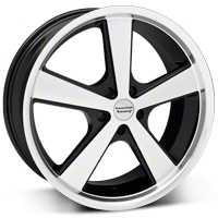 Black Machined American Racing Nova Wheel - 20x10 (05-14 GT, V6) - American Racing VN70121012335
