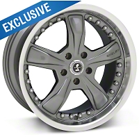 Gunmetal Shelby Razor Wheel - 18x9 (05-14 GT, V6) - Carroll Shelby Wheels SB198S8967||27202||27221||SB198S8966A