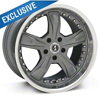 Gunmetal Shelby Razor Wheel - 18x10 (94-04 All) - Shelby SB198S8166