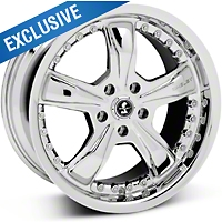 Chrome Shelby Razor Wheel - 18x9 (05-14 GT, V6) - Carroll Shelby Wheels SB698S8967||SB698S8966A||27226||27206