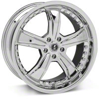 Shelby Razor Chrome Wheel - 20x9 (2015 All) - Shelby 27229G15