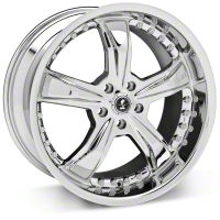 Shelby Razor Chrome Wheel - 20x10 (2015 All) - Shelby 27230G15