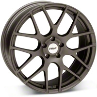 Matte Gunmetal TSW Nurburgring Wheel - 20x8.5 (05-14 All) - TSW 2085NUR405114G76