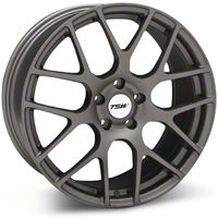 Matte Gunmetal TSW Nurburgring Wheel - 19x8.5 (05-14 All) - TSW 1985NUR455114G76