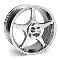 Chrome 2000 Style Cobra R Wheel - 18x9 (94-04 All) - AmericanMuscle Wheels 28003