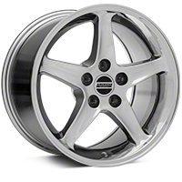 Chrome 1995 Style Cobra R Wheel - 17x10.5 (94-04 All) - AmericanMuscle Wheels 28015