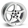 1995 Cobra R Silver Wheel - 16x8 (87-93 5 Lug Conversion) - American Muscle Wheels 28033
