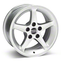1995 Cobra R Style Silver Wheel - 16x8 (87-93 5 Lug Conversion) - American Muscle Wheels 28033