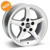 Silver 1995 Style Cobra R Wheel - 16x8 (87-93 5 Lug Conversion) - AmericanMuscle Wheels 28033