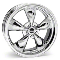 Chrome Deep Dish Bullitt Wheel - 20x8.5 (94-04 All) - AmericanMuscle Wheels 28051