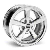 Chrome Deep Dish Mach 1 Wheel - 17x9 (94-04 All)
