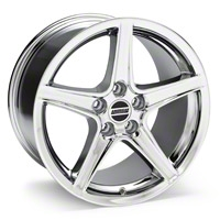 Chrome Saleen Style Wheel - 18x10 (05-14 GT, V6) - AmericanMuscle Wheels 28059
