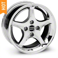 1995 Cobra R Style Chrome Wheel - 16x8 (87-93; Excludes 93 Cobra) - American Muscle Wheels 28062
