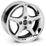 Chrome 1995 Style Cobra R Wheel - 16x8 (87-93; Excludes 93 Cobra) - AmericanMuscle Wheels 28062