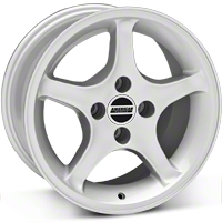 Silver 1995 Style Cobra R Wheel - 16x8 (87-93; Excludes 93 Cobra) - AmericanMuscle Wheels 28063