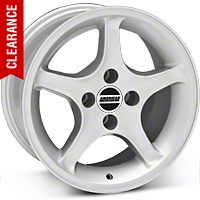 1995 Cobra R Style Silver Wheel - 16x8 (87-93; Excludes 93 Cobra) - American Muscle Wheels 28063