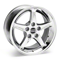 1995 Cobra R Chrome Wheel - 16x8 (87-93 5 Lug Conversion) - American Muscle Wheels 28064