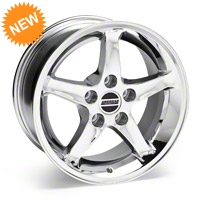 Chrome 1995 Style Cobra R Wheel - 16x8 (87-93 5 Lug Conversion) - AmericanMuscle Wheels 28064