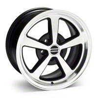 Black Machined Deep Dish Mach 1 Wheel - 17x9 (94-04 All)