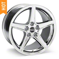 Chrome Saleen Style Wheel - 18x10 (94-04 All) - AmericanMuscle Wheels 28067