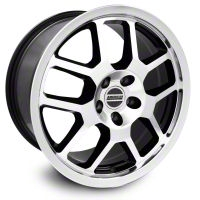 2007 GT500 Style Black Machined Wheel - 18x9.5 (05-14 All) - American Muscle Wheels 28072