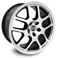 Black Machined 2007 Style GT500 Wheel - 18x9.5 (05-14 All) - AmericanMuscle Wheels 28072