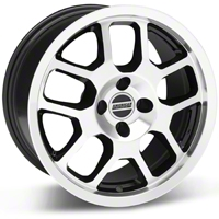 Black Machined 2007 Style GT500 Wheel - 17x9 (87-93; Excludes 93 Cobra) - AmericanMuscle Wheels 28085