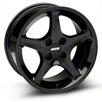 Black 1995 Style Cobra R Wheel - 17x9 (87-93; Excludes 93 Cobra) - AmericanMuscle Wheels 28087