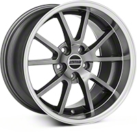 Anthracite Deep Dish FR500 Wheel - 17x10.5 (94-04 All) - AmericanMuscle Wheels 28091