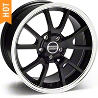 Black FR500 Wheel - 17x9 (94-04 All) - AmericanMuscle Wheels 28092