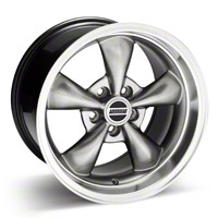 Hypercoated Deep Dish Bullitt Wheel - 17x10.5 (94-04 All) - AmericanMuscle Wheels 28122