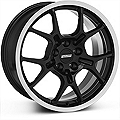 GT4 Black Wheel - 18x9 (87-93 5 Lug Conversion) - American Muscle Wheels 28132