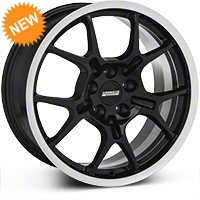 Black GT4 Wheel - 18x9 (87-93 5 Lug Conversion) - AmericanMuscle Wheels 28132