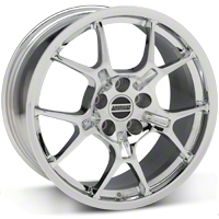 GT4 Chrome Wheel - 18x9 (87-93 5 Lug Conversion) - American Muscle Wheels 28133