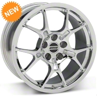 Chrome GT4 Wheel - 18x9 (87-93 5 Lug Conversion) - AmericanMuscle Wheels 28133