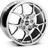 Chrome GT4 Wheel - 18x9 (05-14 All) - AmericanMuscle Wheels 28136