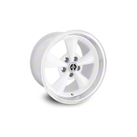 White Deep Dish Bullitt Wheel 94-04 (17x10.5)