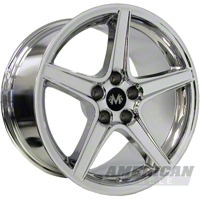Chrome Mustang S Style Wheel - 2005+ (17x9)