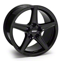 Black Saleen Style Wheel - 18x10 (05-14 GT, V6) - AmericanMuscle Wheels 28193
