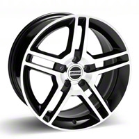 Black Machined 2010 Style GT500 Wheel - 18x10 (94-04 All) - AmericanMuscle Wheels 28224